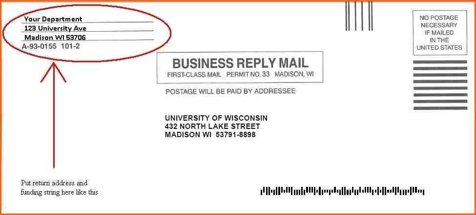Business Envelope Sample Reply Sampleg Letter Vanowen Street North