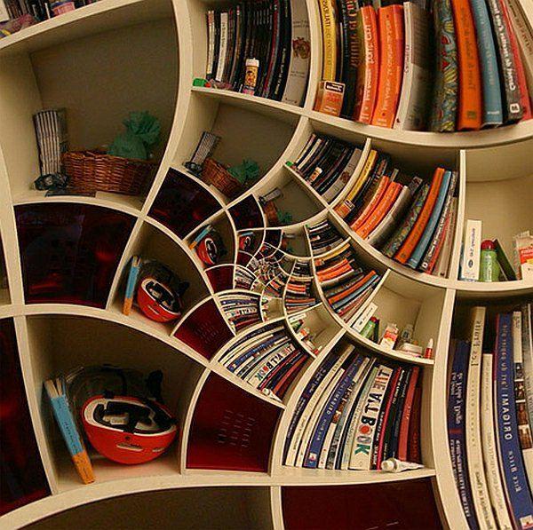 Ausgefallenes bücherregal  Coole Wohnideen - 10 ausgefallene und praktische Bücherregale ...