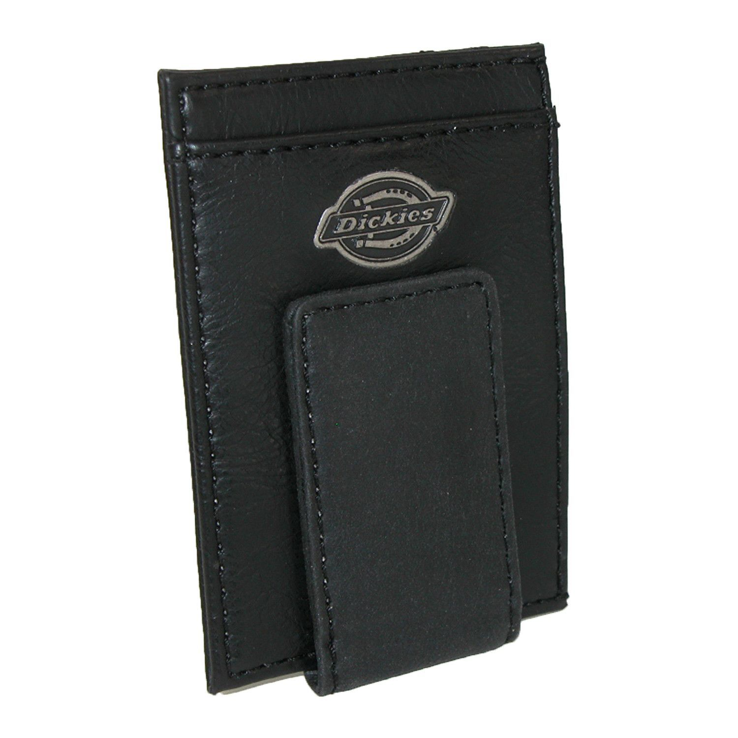Dickies Mens Leather Card Case Wallet with Money Clip