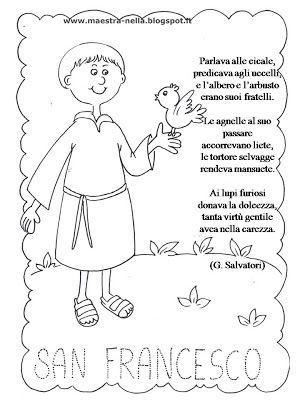 Maestra nella san francesco d 39 assisi 4 ottobre schede for Immagini da colorare di san martino