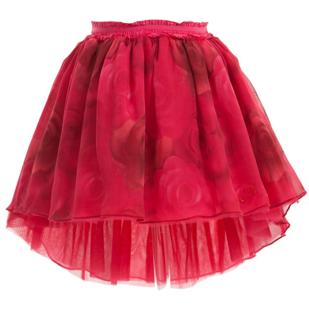 7720f8a9395 Monnalisa Chic girls dusky pink tutu skirt made from layers of tulle  netting with scorched velvet roses and pearl beads scattered all over.