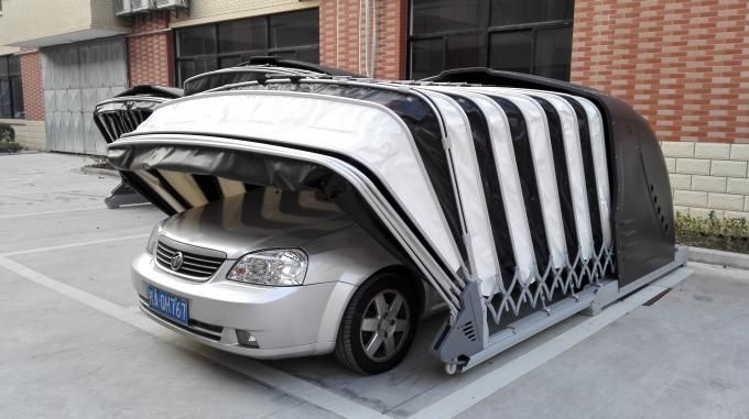 Solar Powered Retractable Car Garage/Portable Garage ...