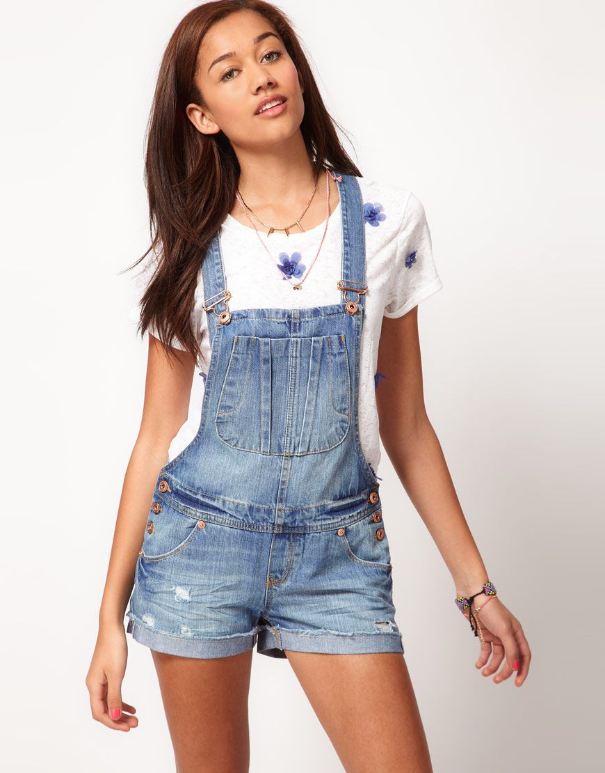 denim dungaree shorts Need some of these bad boys | I gotta have it ...