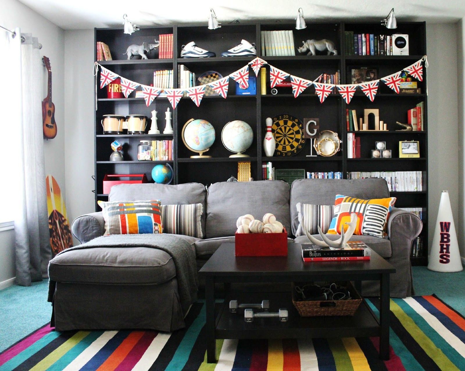 Room Decorating Before and After Makeovers | Game room basement ...