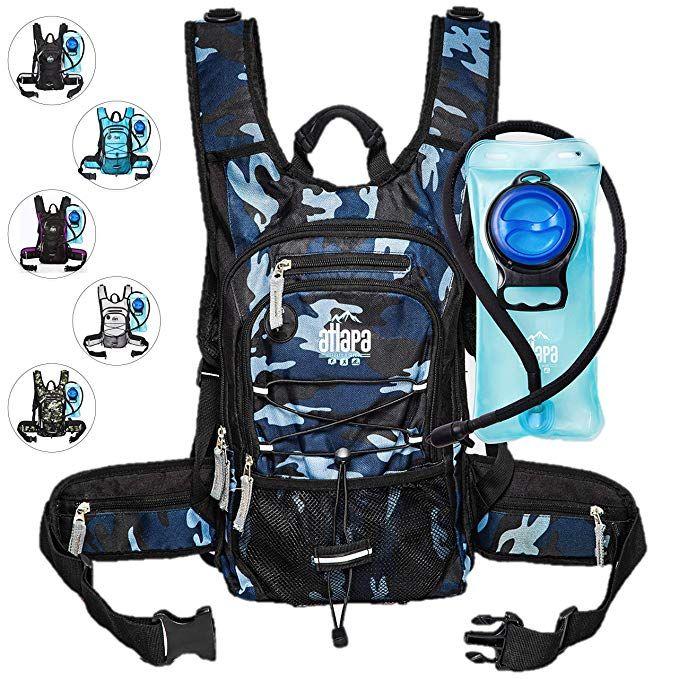 9b3e6cb4af Atlapa Sports Lightweight Hydration Backpack 2L TPU Leak Proof Water Bladder  Insulated Pocket Cold Storage Padded Shoulder Adjustable Straps Daypack  Hiking ...