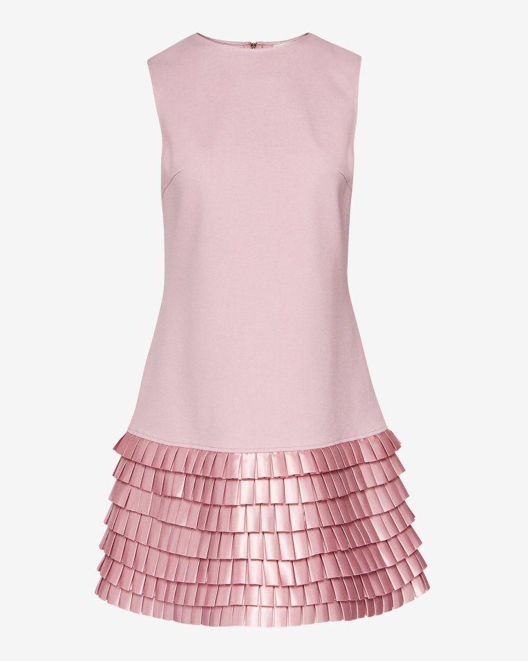 8b7f47d003 Satin loop shift dress - Pale Pink