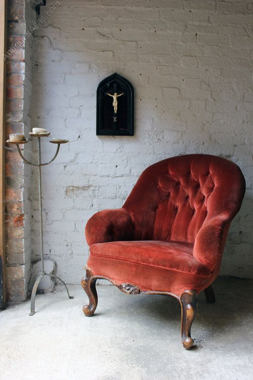 A Comfortable Victorian Button Back Tub Armchair   Antiques Atlas Home Design Ideas