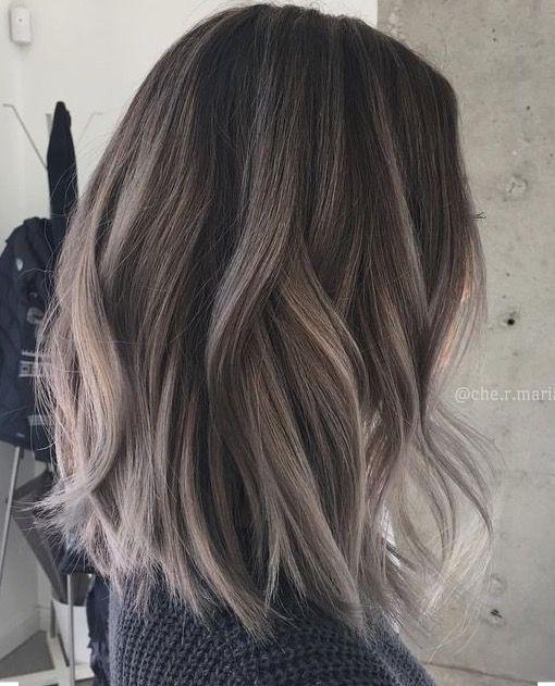 Smokey Ash Bayalage Ash Brown Hair Color Hair Styles