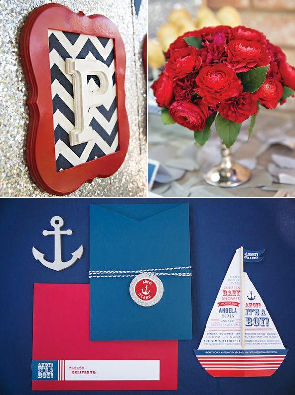 amazing} ahoy! it's a boy! nautical baby shower | nautical baby, Baby shower invitations