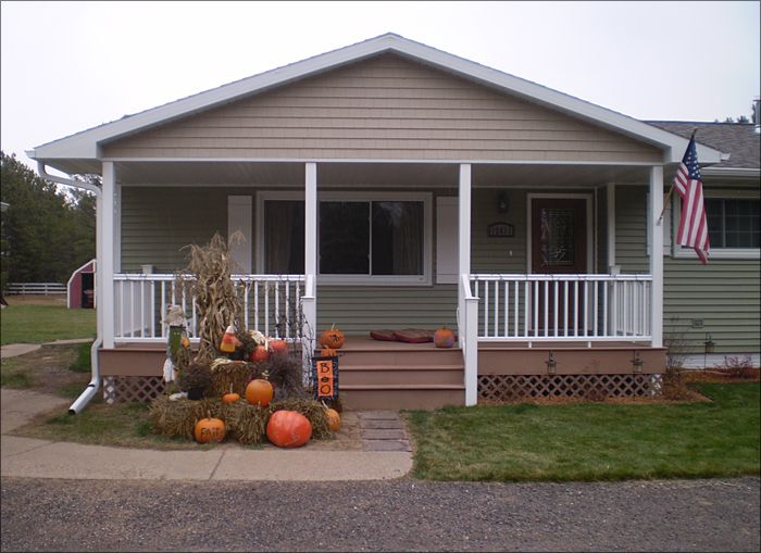 Building Porch Mobile Home Home Improvement Project