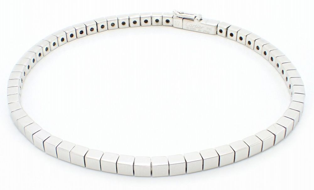 2f406e15eaed8 Cartier Auth Bangle Bracelet Laniere 750WG White Gold Free Shipping ...