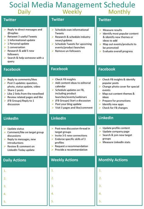 Social media class The Concept of Word-of-Mouth Pinterest - social media schedule template