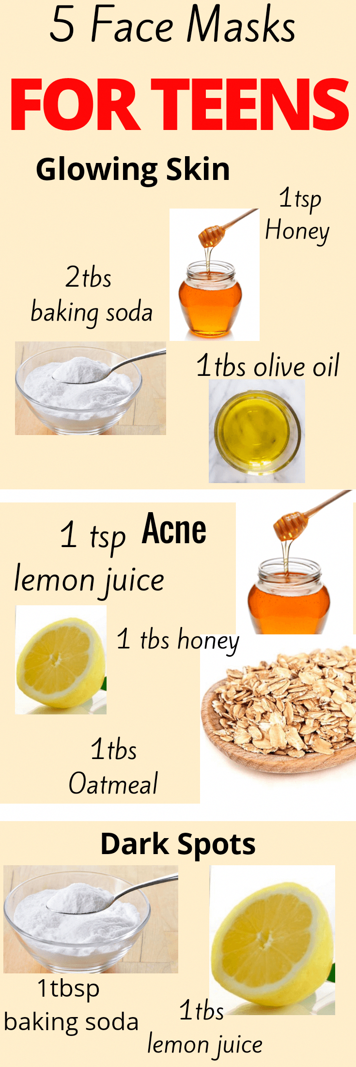Homemade face mask for teens naturalfacemasks #homemadefacelotion