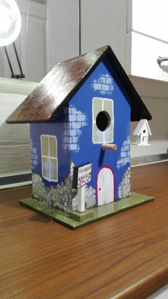 Kuş Yuvasi Bird House El Boyama Benim Yaptiklarim