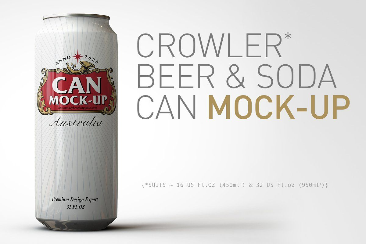 Crowler Beer Can Soda Can Mock Up Beer Can Take Away Coffee Cup Paper Coffee Cup