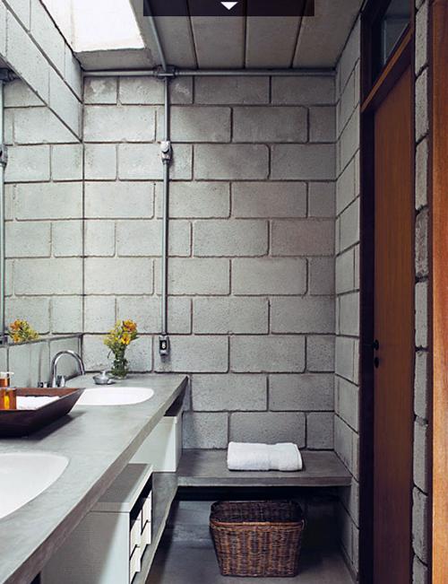 Extremamente Casa Maracanã | Banheiros, Blocos de concreto e Bloco QL56