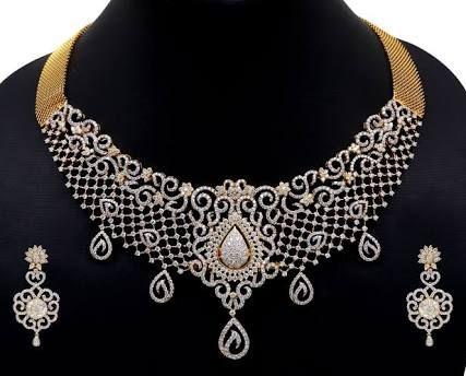 Tanishq Diamond Jewellery Designs With Price Google Search Diamond Necklace Designs Designer Diamond Jewellery Indian Diamond Jewellery