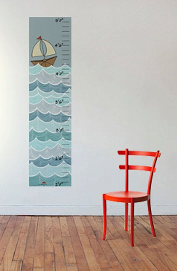 Ocean Growth Chart by OneRedUmbrella on Etsy, $42.00