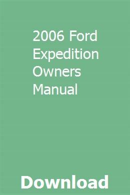 2006 ford expedition repair manual pdf