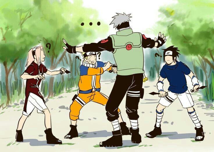 Le Veon Bell >> Team 7, Kakashi, Naruto, Sakura, Sasuke, funny, bell test ...