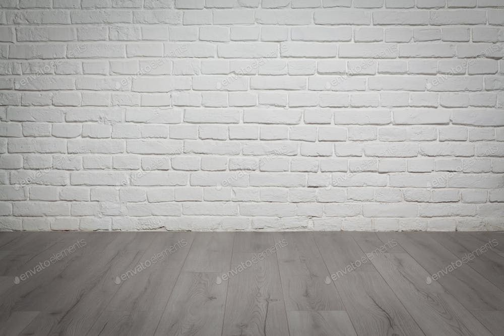 Old White Brick Wall And Wood Floor Background Photo By Stramyk On Envato Elements White Brick Walls White Brick Brick Wall