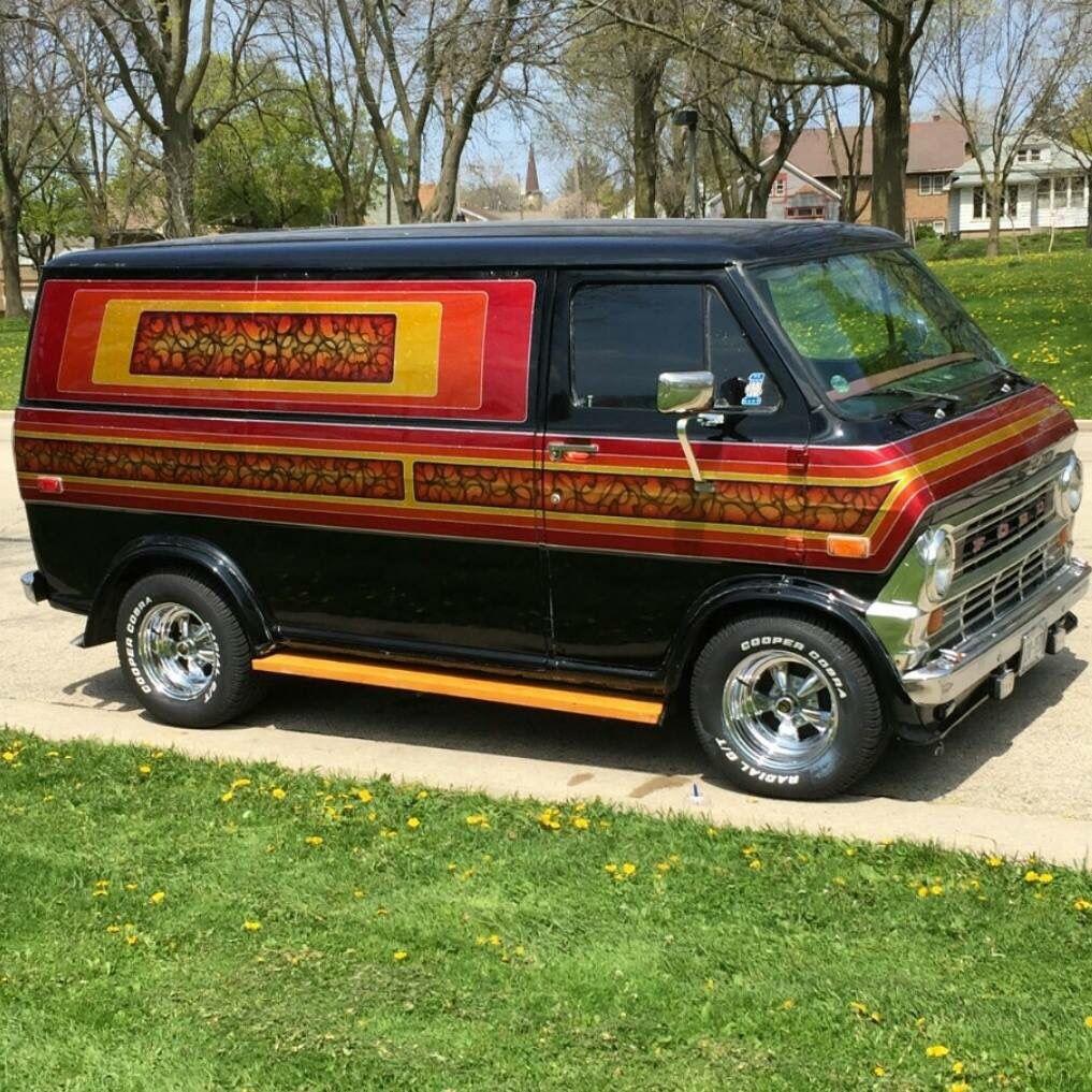 Swiss Vans Large Uk Ford: Custom 70's Ford Van
