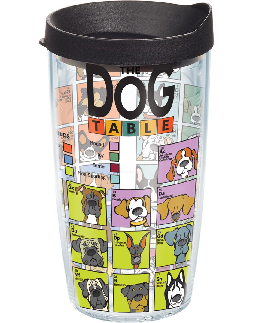 cd6b485fcfd Dog Periodic Table - Wrap With Lid | 16oz Tumbler | Tervis® | Want ...