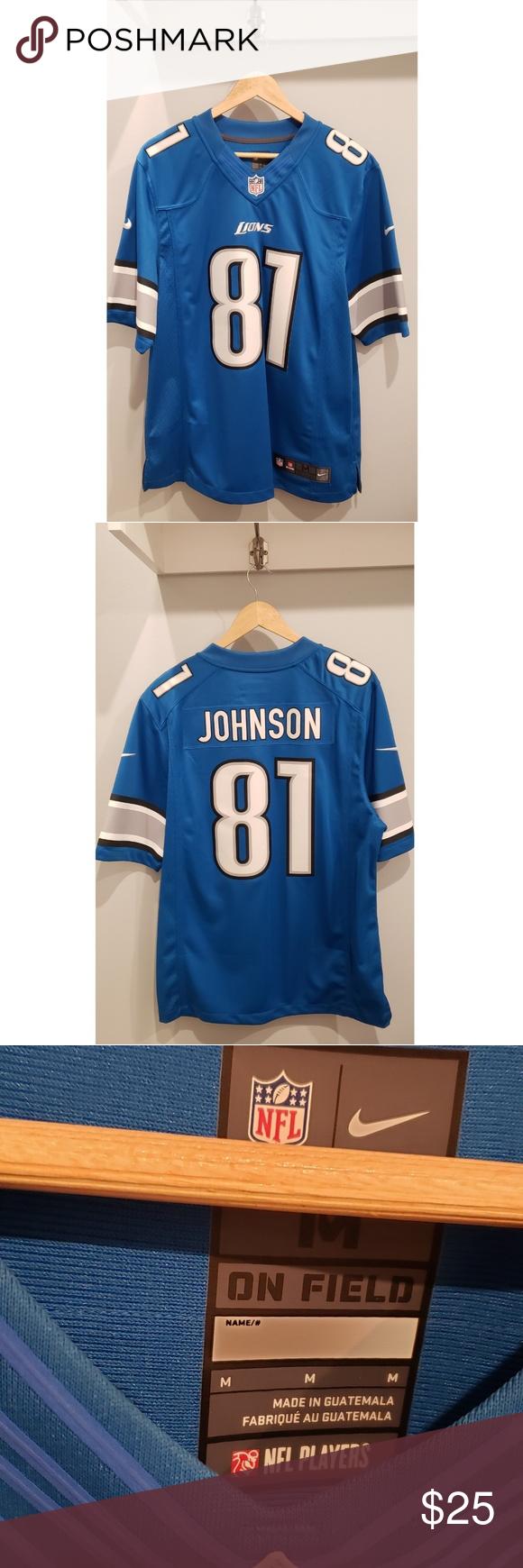 On Field NFL Jersey / LIONS | Nike shirts, Nfl jerseys, Jersey