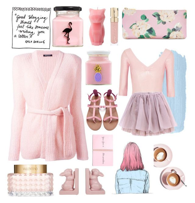 """""""Pastel Heaven"""" by alongcametwiggy ❤ liked on Polyvore featuring ASOS, PyroPet, Smith & Cult, ban.do, Balmain, Flamingo Candles, Ballet Beautiful, Valentino, Martha Stewart and Olympia Le-Tan"""