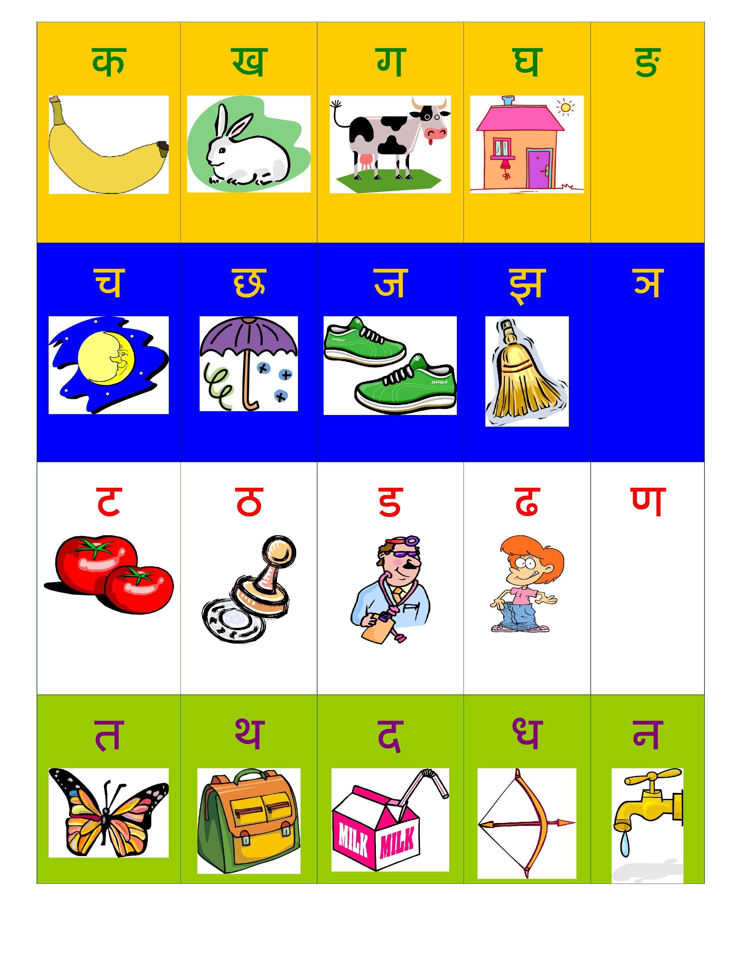 Hindi Alphabet Varnamala Chart Free. Print at Home! | Hindi Alphabet ...
