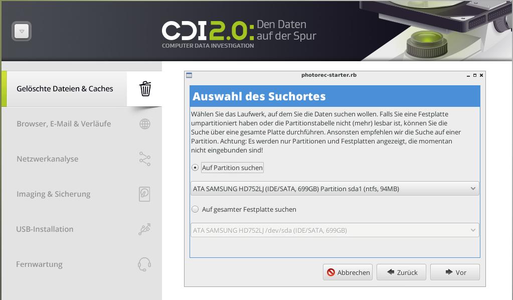 Cdi 2 0 Den Daten Auf Der Spur Schadsoftware Datum Festplatte