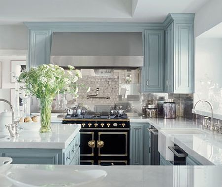 """Jennifer Lopez - """"There are all these tones of gray, and we played with that—using a bit more of a gray-taupe here, a bit more of a gray-blue there,"""" says interior designer Michelle Workman. """"It's almost like a black-and-white film from the forties."""""""