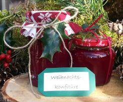 Weihnachtskonfitüre Mein Wintertraum #weihnachtsdekoglas