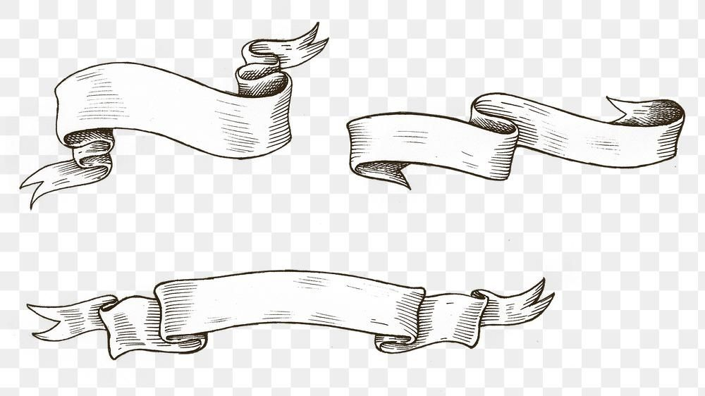 Hand Drawn Ribbon Design Element Free Image By Rawpixel Com Hein How To Draw Ribbon How To Draw Hands Vintage Ribbon Banner