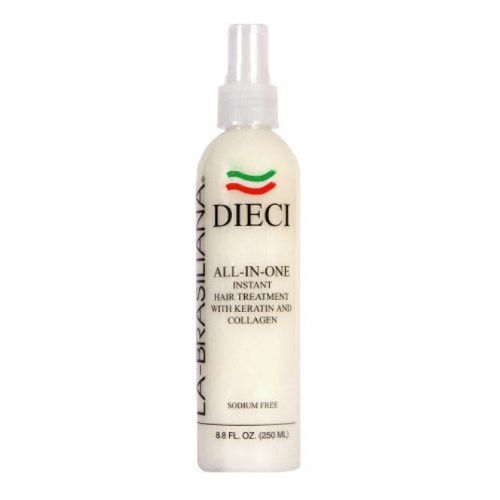La-Brasiliana Dieci All -In-One Treatment with Keratin & Collagen 8.45 Ounce