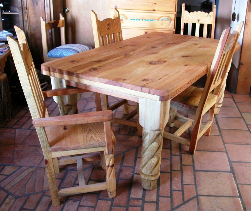 Rustic Pine Dining Room Chairs  Httpenricbataller Awesome Pine Dining Room Table And Chairs Inspiration Design
