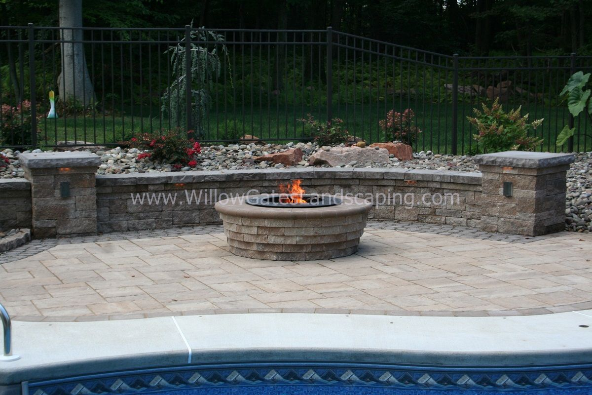 Customized Fire Pit With Zentro Smokeless Wood Burning