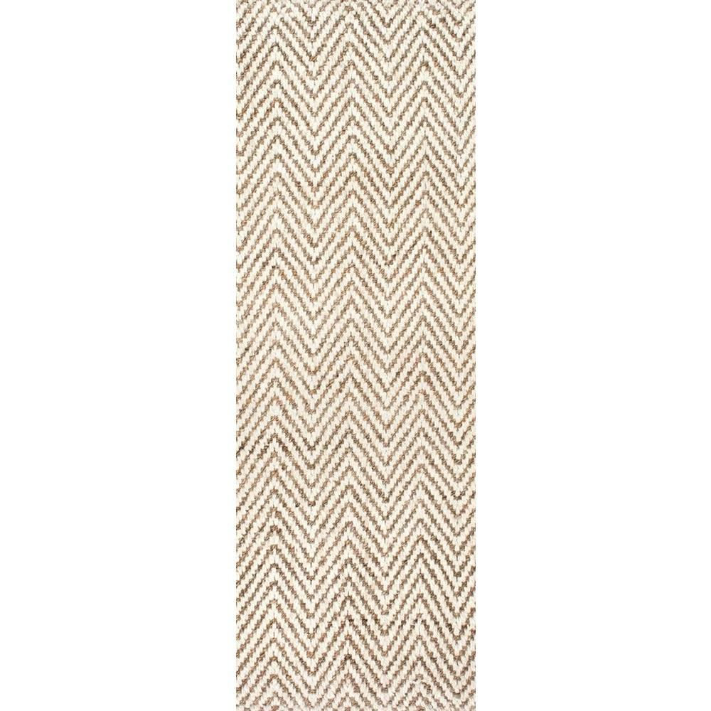 Nuloom Vania Chevron Jute Off White 3 Ft X 12 Ft Runner Clwa03a 26012 The Home Depot In 2020 Rugs Area Rug Sizes Nuloom