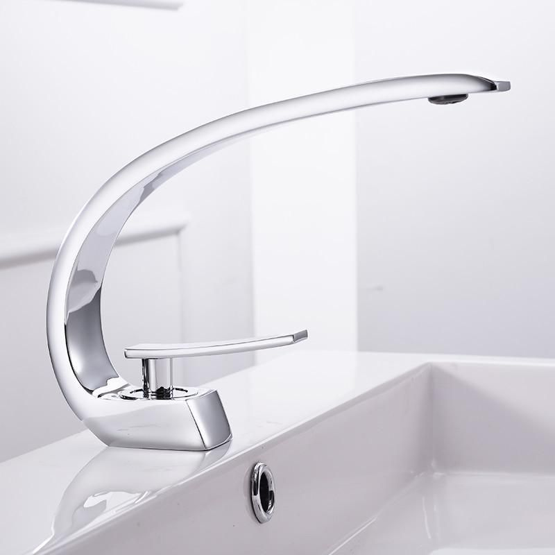 Modern Crane Design Single Handle Basin Faucet In 2020 Bathroom