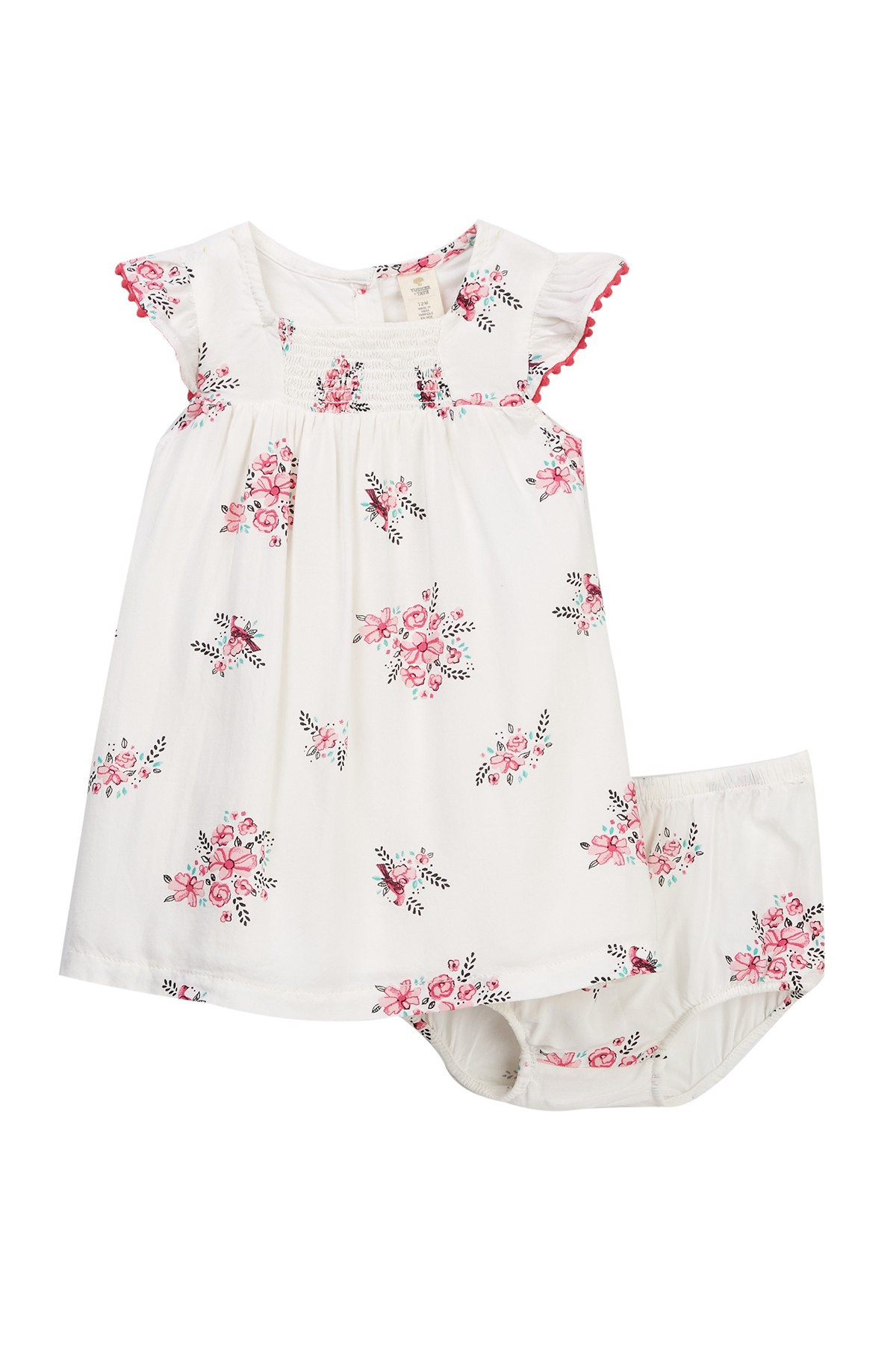 Tucker Tate Smocked Print Dress Set Baby Girls