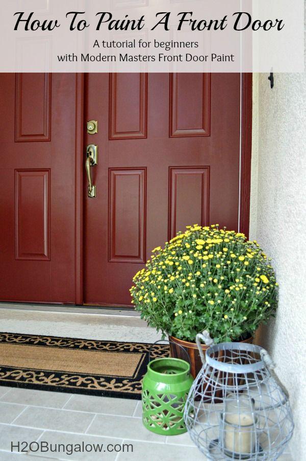 How To Paint A Front Door Front Doors Latex And Doors