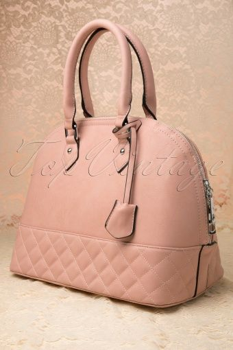 Milan - 60s Carese City Chic Handbag in Soft Pink