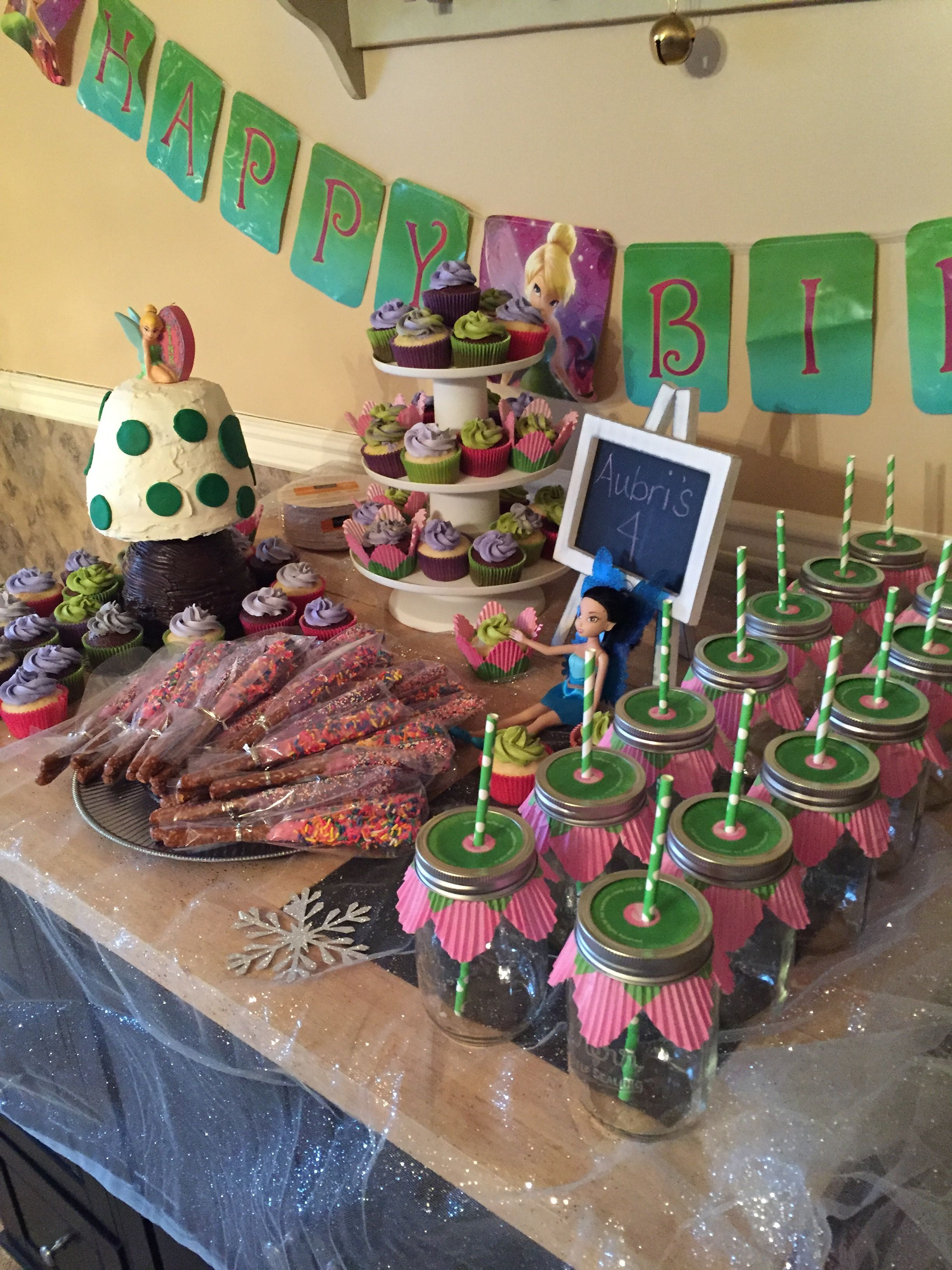 4th tinker-bell birthday  party