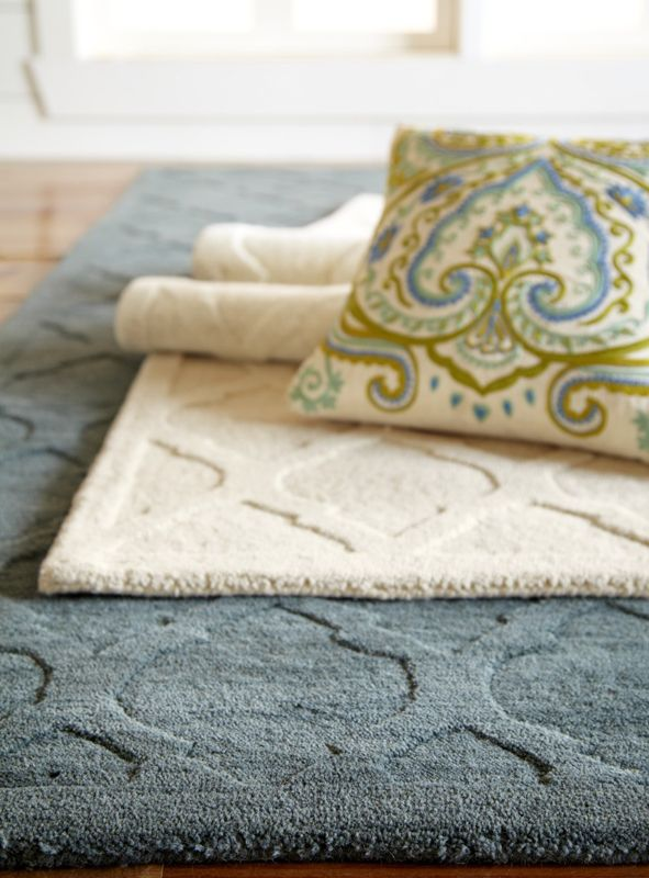 Patterned Pillows Bring Out The Horseshoe Arches And Zellige Tilework In Our Hand Tufted Moorish Tile Rugs
