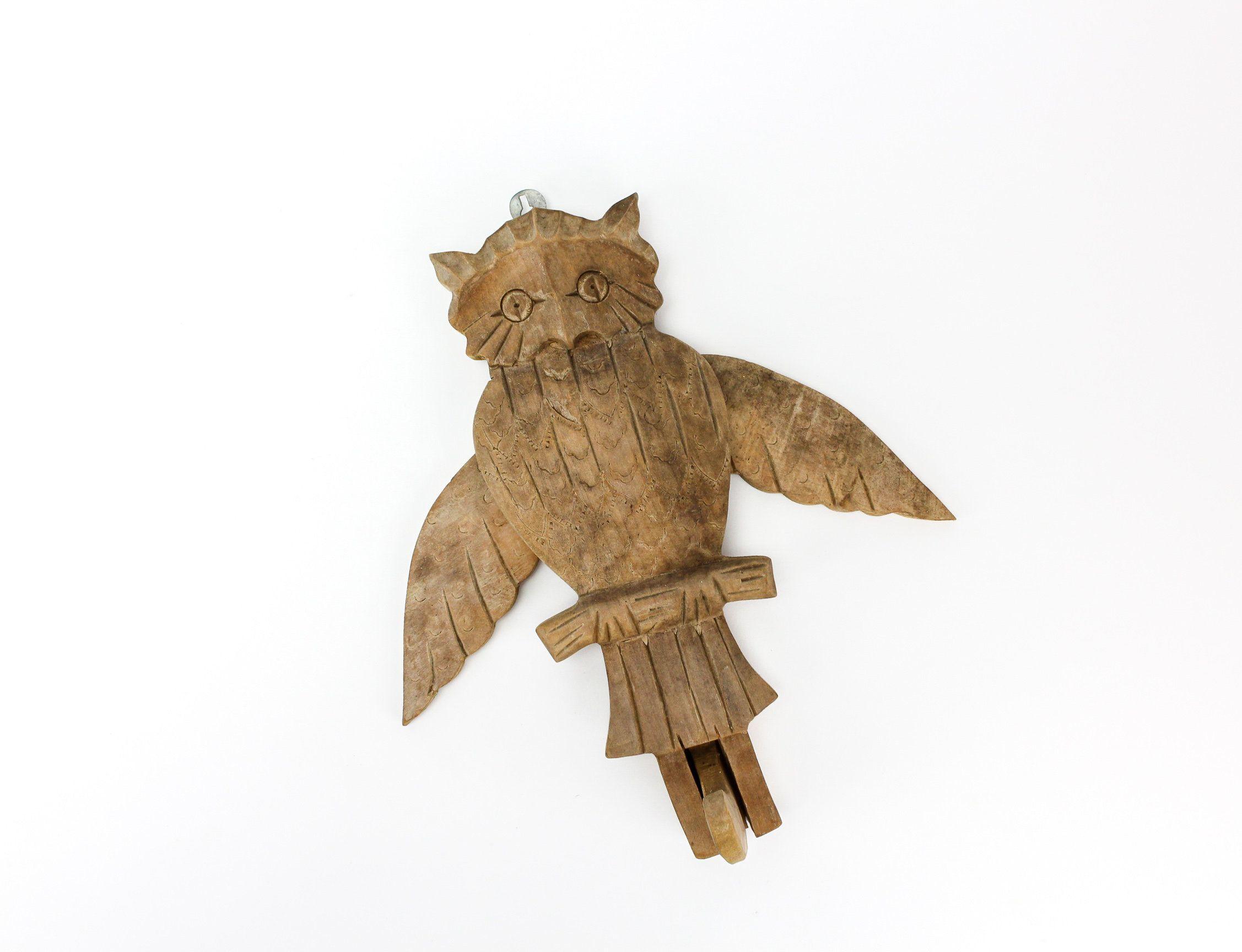 10 Owl Wooden Buttons 32mm W0035 Aussie Seller