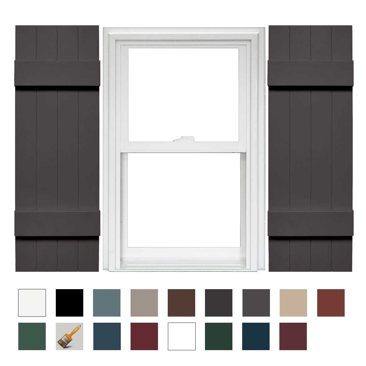 Mid America 4 Board And Batten Joined Vinyl Shutters 1 Pair 14 X 31 018 Tuxedo Gray Vinyl Shutters Board And Batten Shutters Mid America Shutters