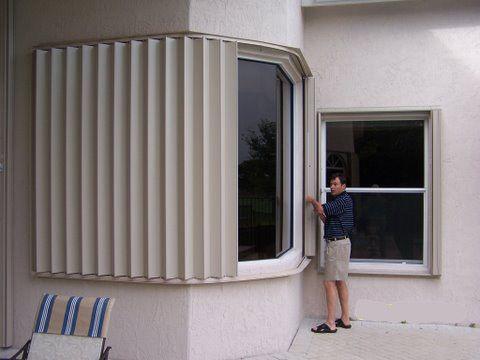 Bay Window Hurricane Shutters Hurricane Shutters New Home Builders Shutters