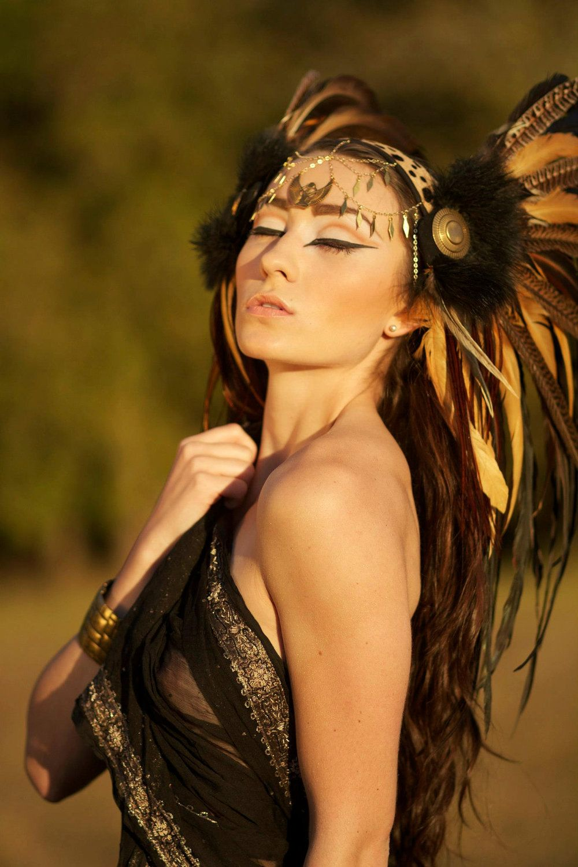 Passion Feather headdress, Headdress, Raven art