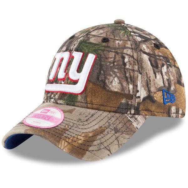 New York Giants New Era Women s Preferred Pick 9TWENTY Adjustable Hat - Realtree  Camo 543f12097