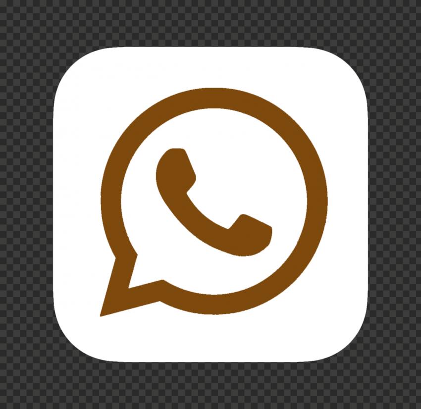 Hd White Brown Whatsapp Wa Square Logo Icon Png Square Logo Logo Icons Icon